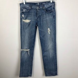 7 for All Mankind Rickie Boyfriend Jeans size 29